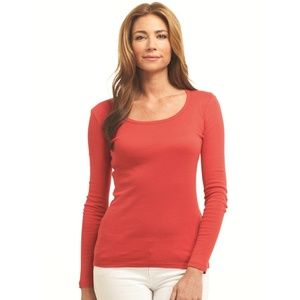 BRAND-NEW Gap Bright Red Long-Sleeved T-Shirt